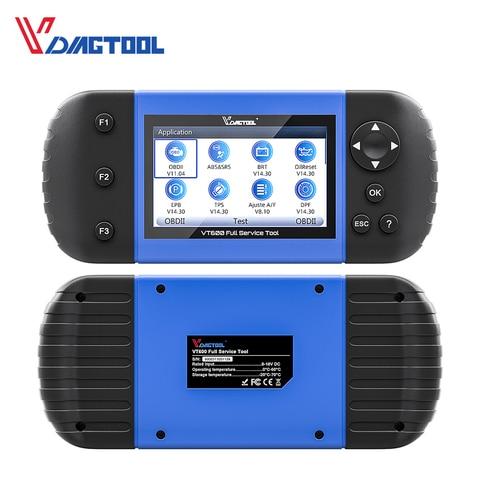 VT600 OBD2 Automotive Scanner Tool Engine ABS SRS EPB Oil Service Reset Injector Coding OBDII Key Programmer For Car Diagnostic Lahore