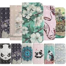 Phone Case For Motorola Moto One P30 Play G5S G6 E5 Plus G6Plus E5Plus Cover Cute Animal Bear Cat Dog Flip Leather Capa Bag P26Z(China)