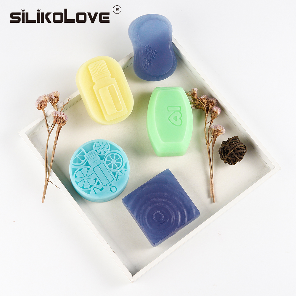 Silicone Soap Mold Round Oval Square For DIY Soap Making 3D Soap Form Craft Handmade 6 Patterns