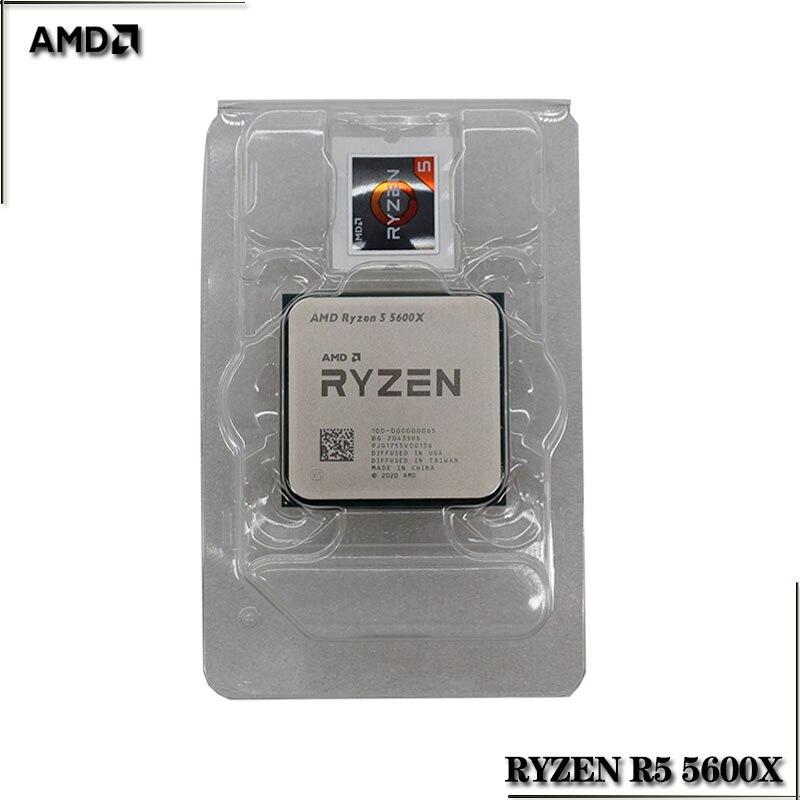 Процессор AMD Ryzen 5 5600X R5 5600X 3,7 ГГц шестиядерный, двенадцать потоков, 65 Вт, процессор L3 = 32M 100-000000065, разъем AM4
