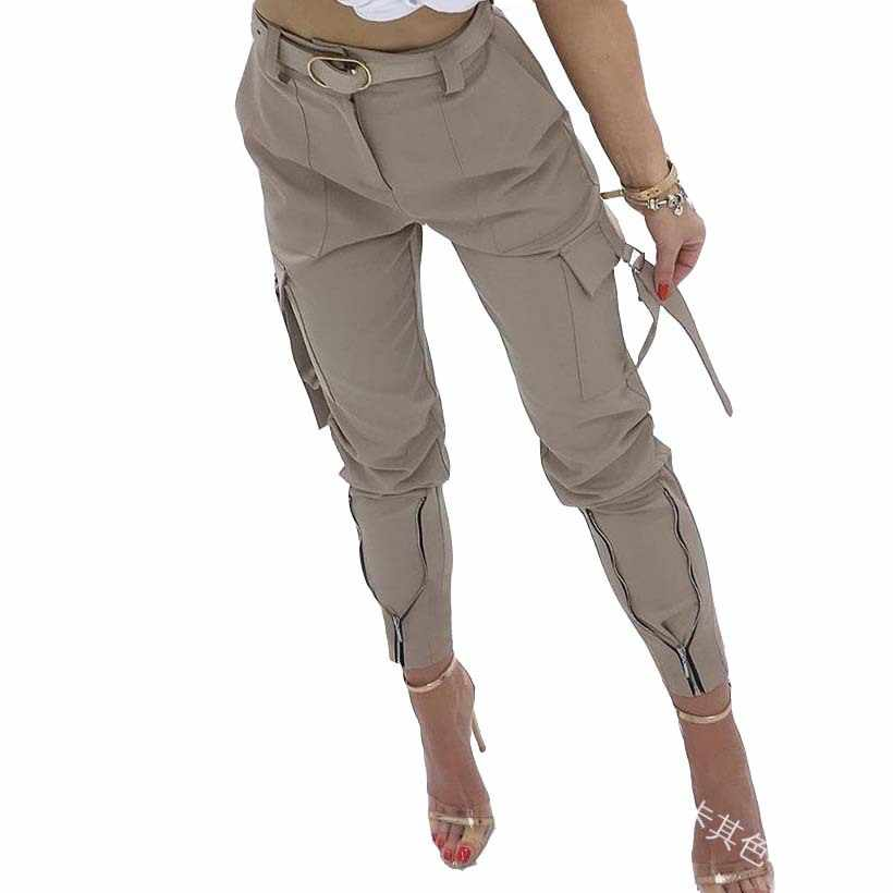 WEPBEL Donne Casual Pantaloni Della Matita delle Donne Pantaloni di Colore Solido Pantaloni di Lunghezza Della Caviglia di Estate Nuovo
