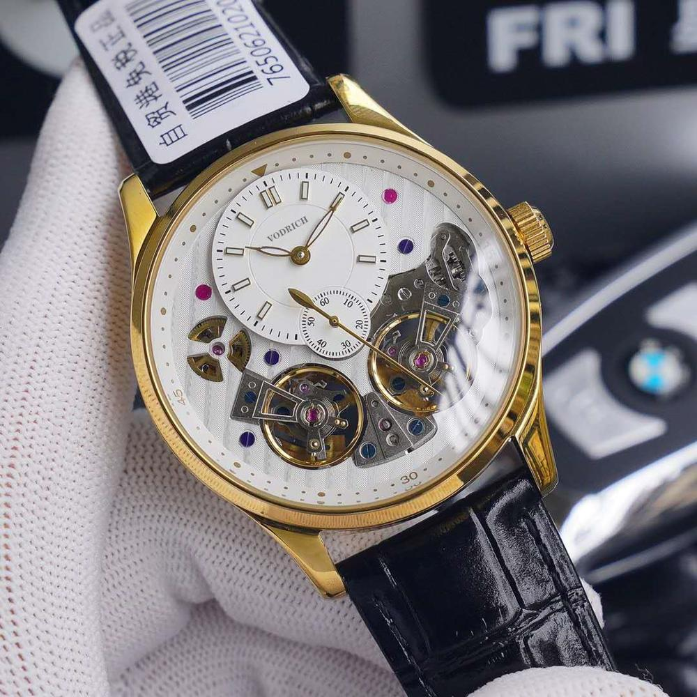 watchaaa+Men's high quality high quality watches. Luxury watch, double tourbillon, fully automatic movement. True calfskin strap