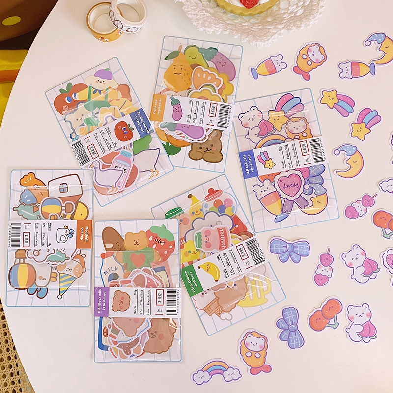 20PCS/SET Cartoon Cute Candy Gummy Bear <font><b>Sticker</b></font> <font><b>Stickers</b></font> Bullet Journal kawaii <font><b>Sticker</b></font> Scrapbooking Calendar DIY Clear <font><b>Stickers</b></font> image