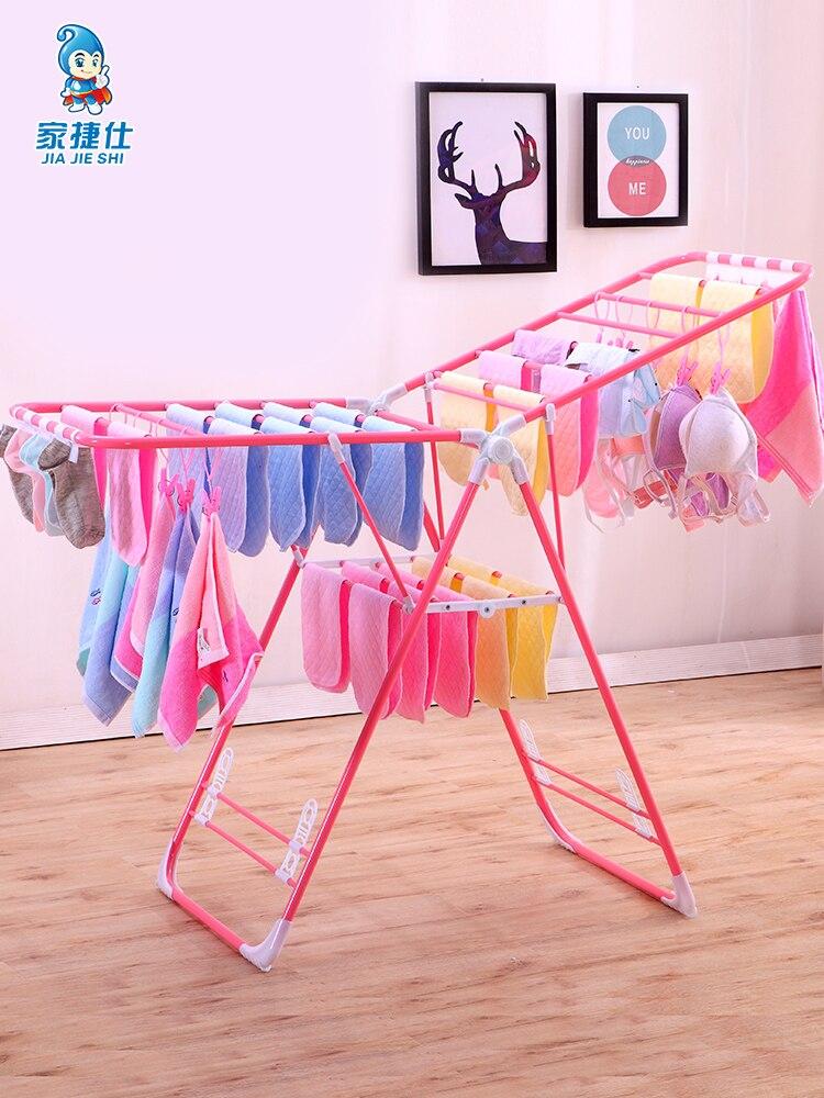 Multi función de secado de la ropa Rack bien Rack secado de ropa Simple edredón bebé pañal Rack - 5