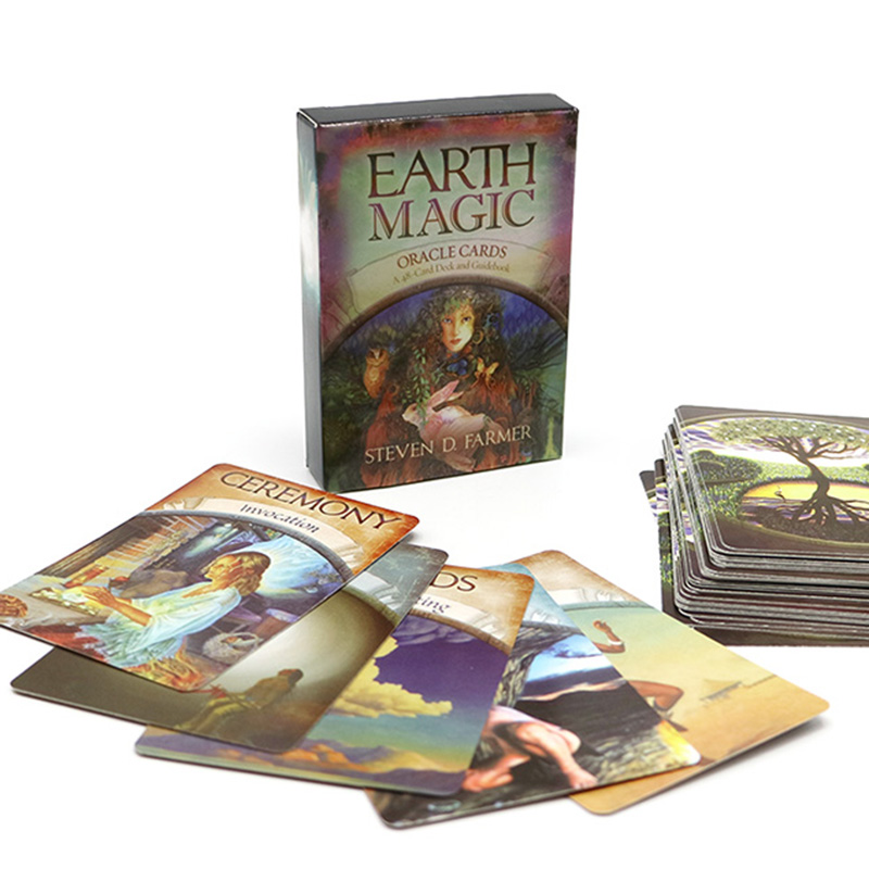 2019 Earth Oracle Cards Deck, 48 Cards, Earth Magic, Read Fate Tarot Card Game For Personal Use Board Game