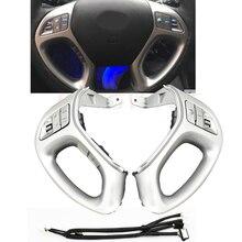 Boutons de régulateur de vitesse multifonctions pour Hyundai ix35 et TUCSON 2010 – 2015, boutons de volant avec bluetooth en argent