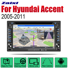 ZaiXi Android Car Radio Stereo DVD GPS Navigation For Hyundai Accent Era 2005~2011 Bt wifi 2din Car Radio Stereo Multimedia все цены