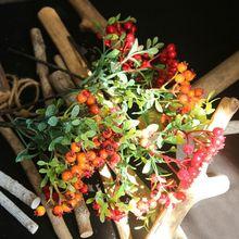 Искусственные ягодные бобы из пенопласта, искусственные цветы, праздничные украшения, украшения для рождественской елки