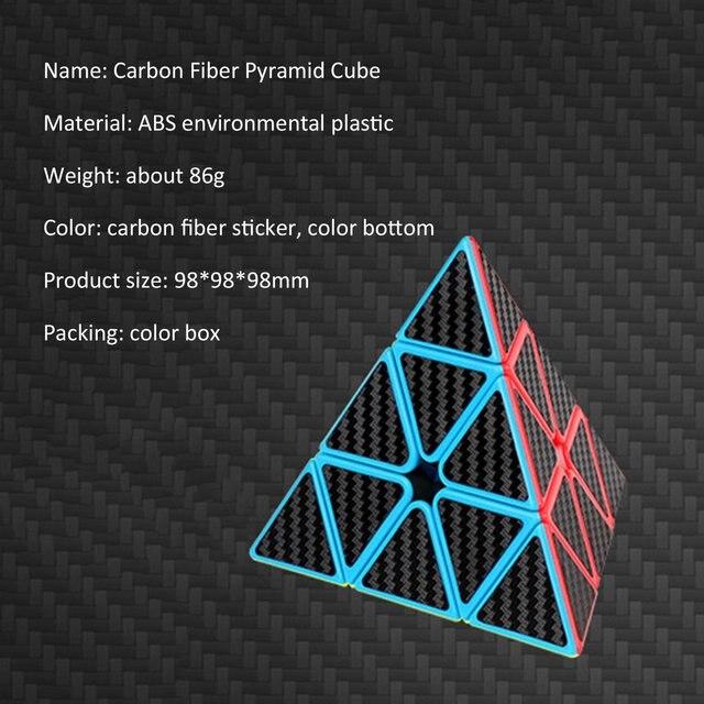 Magic Cube Pyramid Multi-Order Magic Cube Carbon Fiber Sticker Series Magic Cube Children'S Educational Toys 4