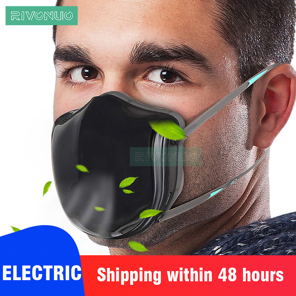Electric Fresh Air Purifier PM2.5 98% Filtering Efficiency KN95 Anti Pollution Dust Mask For Allergy Asithma Dust Workplace