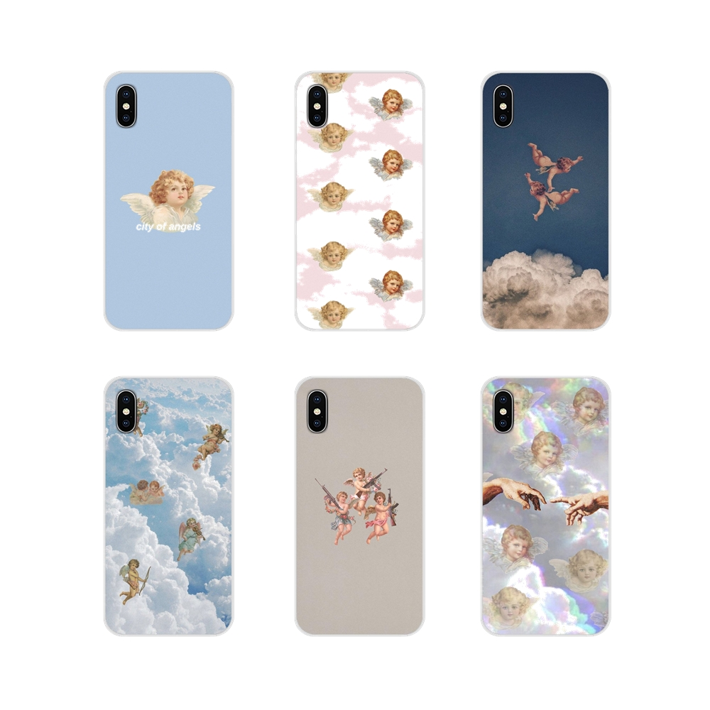 For Apple iPhone X XR XS 11Pro MAX 4S 5S 5C SE 6S 7 8 Plus ipod touch 5 6 Accessories Phone Cases Covers Angels Aesthetic
