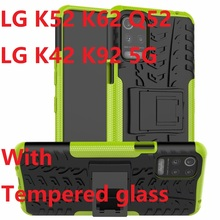 Phone-Cases Hard-Cover Armor Lg K52 Silicon for Q52/K62-case/Tempered-glass/..