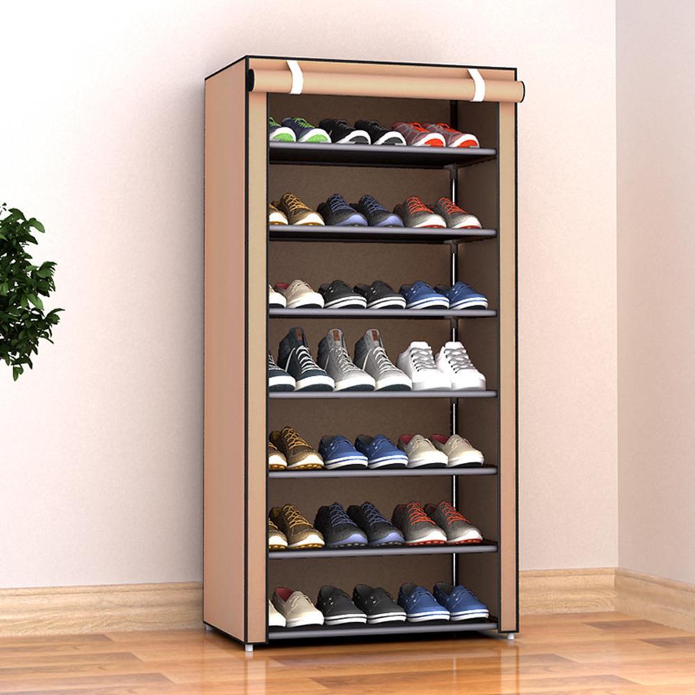 Shoe Cabinet Non-Woven Fabric Slipper Home Organization Housekeeping Shoe Rack Creative Multi-Layer Closet Storage