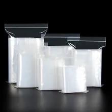 Plastic Bags Ziplock-Bag Vacuum-Storage-Bag Sealed Jewelry Transparent-Bag Kitchen Small