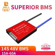 Защитная плата BMS PCM для литий ионных и литий ионных аккумуляторов, 3,7 в, 14S, 48 В, 20A, 30A, 40A, 60A, 18650 PCM, с сбалансированным модулем литий ионных аккумуляторов