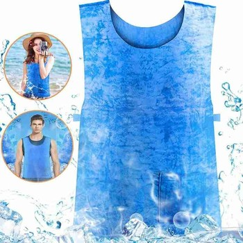 New Summer Anti-heat Cooling Vest Waterproof Protective Ice Vest Outdoor Equipment Sports Camping Hiking Accessories Sportware