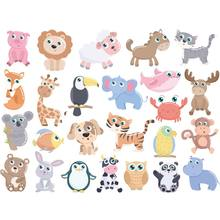 A4 Size Transfers Iron On Patches Animal Set Heat Transfer Children Clothing Stickers Diy T-Shirt Washable Stripe Patches