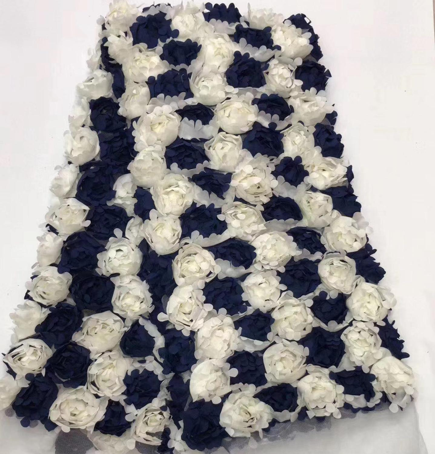African Lace Fabric High Quality Lace Nigerian 3d Tulle Mesh Tulle Lace Fabrics For African Parties