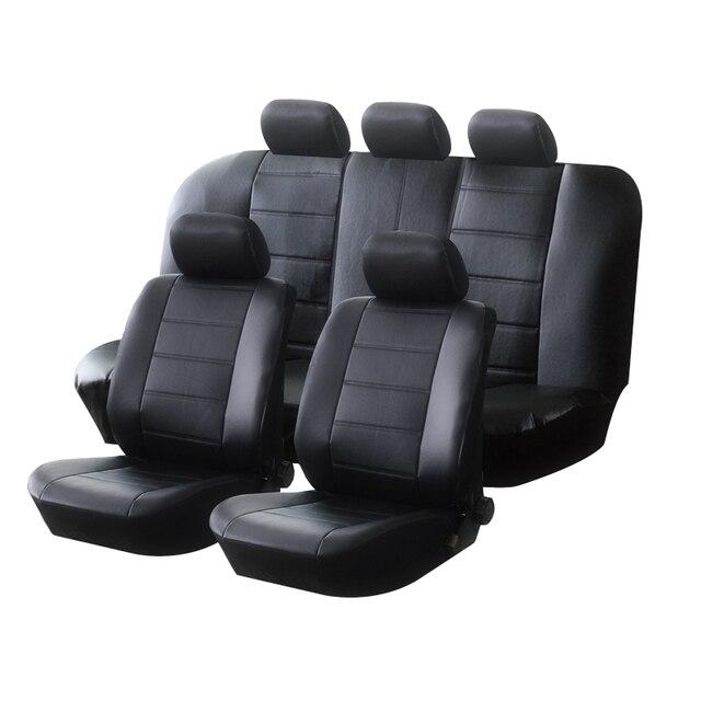AUTOYOUTH siedzenie samochodowe ze skóry PU obejmuje uniwersalny pełny syntetyczny zestaw pełne pokrowce na siedzenia dla Toyota Lada Renault Audi Peugeot VW