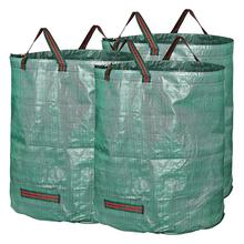 3 шт., мусорные ящики для двора, переносные Большие Садовые мусорные листья, мусорное ведро, многоразовый контейнер для хранения