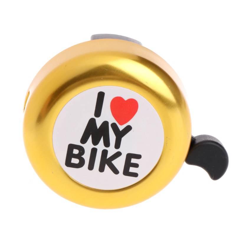 Велосипедный звонок-'i Like My Bike' велосипедный Рог-громкий Алюминиевый велосипед кольцо мини-велосипед аксессуары для взрослых мужчин женщин детей девочек мальчиков