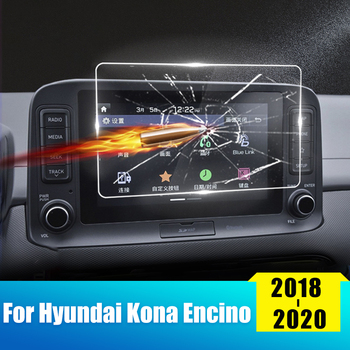 For Hyundai KONA Encino 2018 2019 2020 Tempered Glass Car GPS Navigation Screen Protector Display Film LCD Protective Sticker image