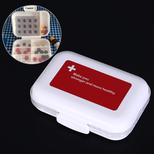 Storage-Box Pill-Box 8-Grids Makeup-Container Folding Plastic Portable 1pc Jewelry