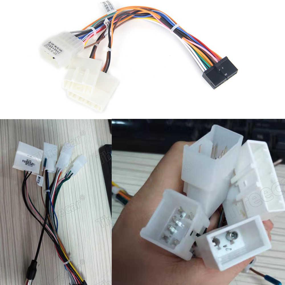 Auto Head Unit Kabelboom Adapter Auto Stereo Radio Power Connector Voor Toyota Auto Android Radio Harnas