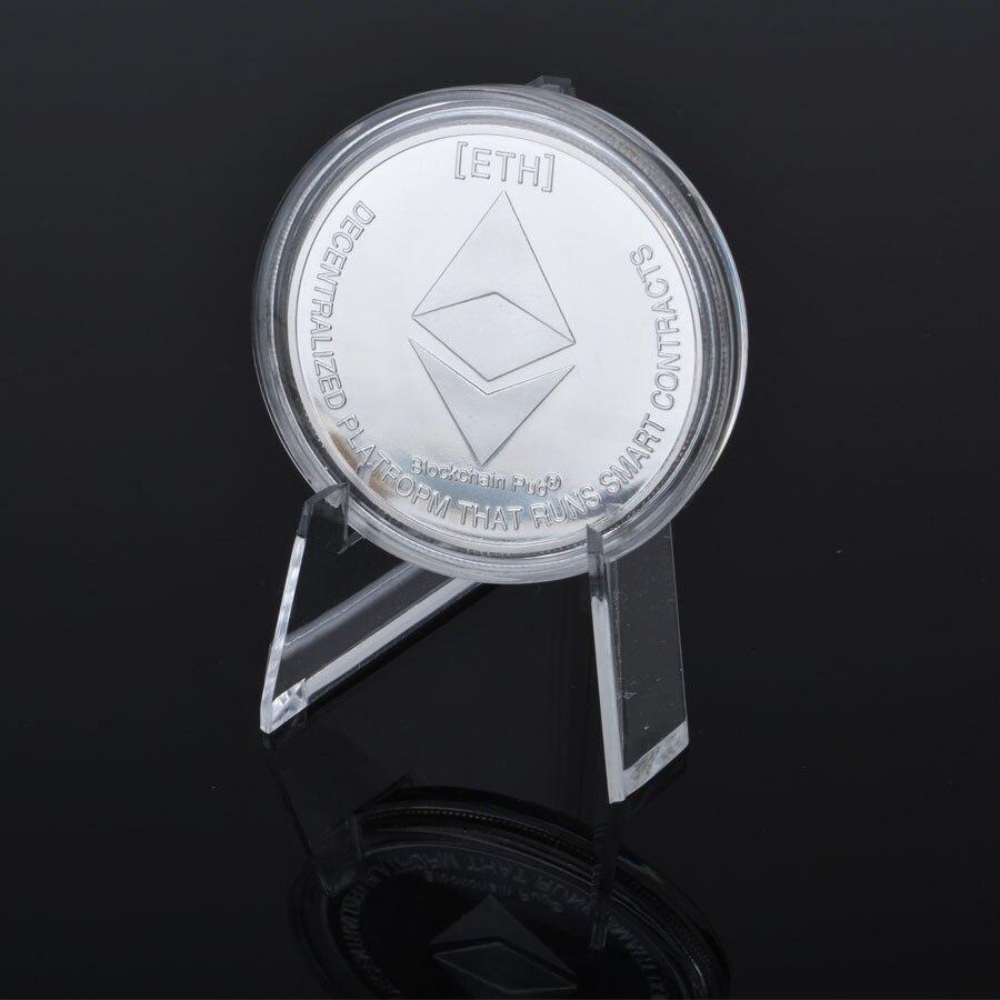 Позолоченные эфириума монета художественный сувенир станет желанным подарком для друзей сбор физической металлические монеты имитация се...