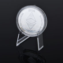 Gold Plated Ethereum Coin Art Souvenir Great Gift Collecting Physical Metal Coins Imitation Silver Home Decoration Coin