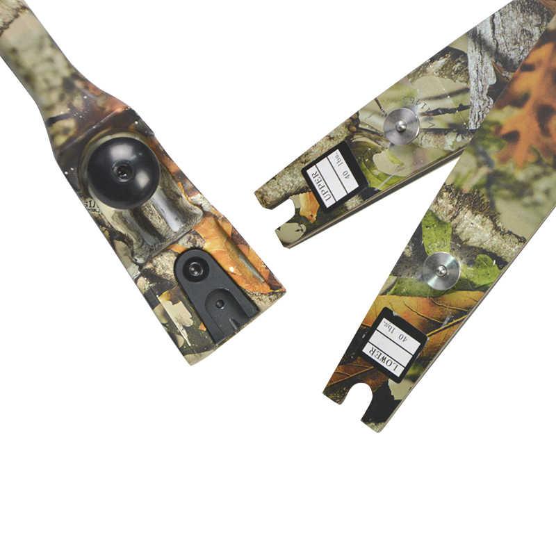 """JUNXINGF166 30-55lbs ILF arco recurvo extremidades H21 64 """"para tiro con arco, práctica de tiro con arco, caza, Camping"""