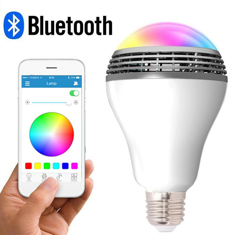 Беспроводной светодиод BT музыкальный светильник лампа с умным bluetooth динамиком многоцветное изменение приложения управление RGB подключение один к одному - 2