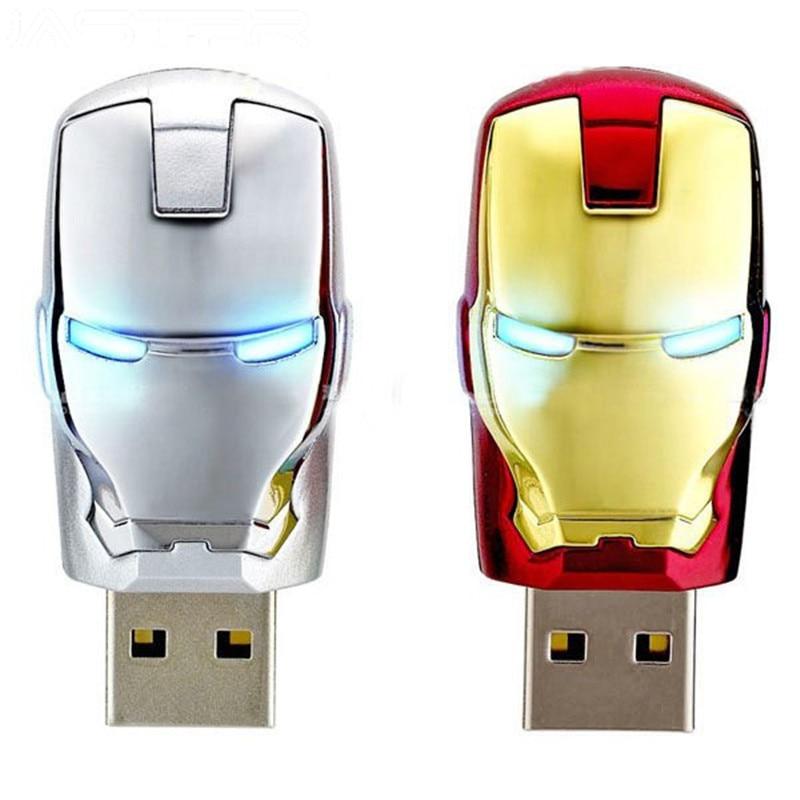 JASTER Large Capacity Iron Man Pendrive Metal Waterproof Pen Drive 16gb 32gb 64gb Usb Stick Usb Flash Drive U Disk Gift Cle Usb