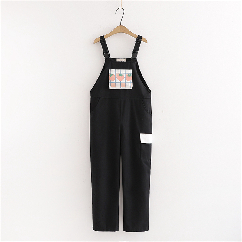 Kawaii Vintage Strawberry Trousers Overalls 2