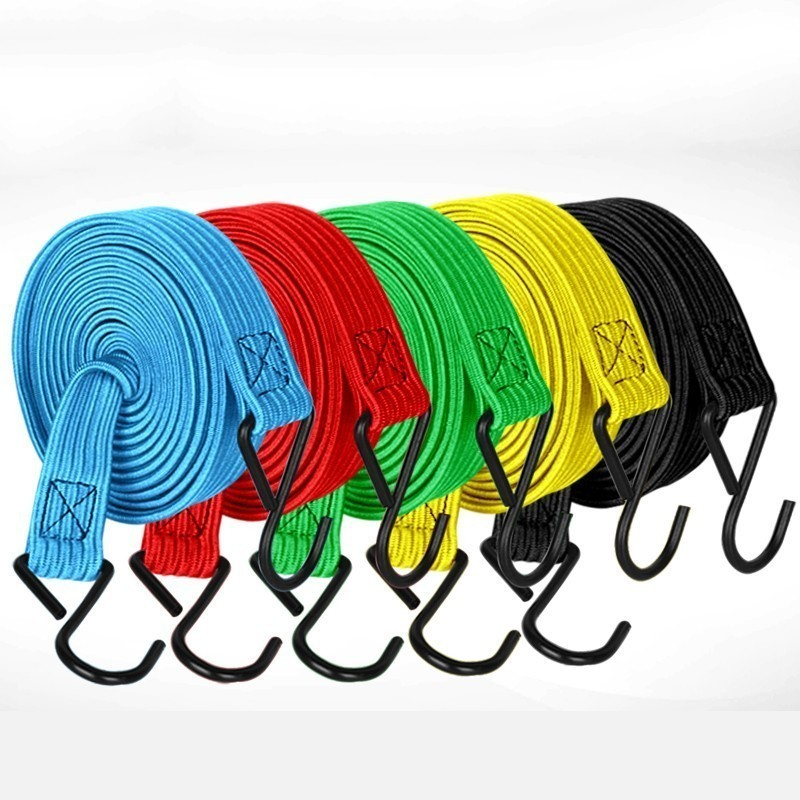 Electric Vehicle Motorcycle Reserve Box Hook Tie Up Rope Tie Up Goods Belt Elastic Force Luggage Rope bycicle accessories|Electric Bicycle Accessories| |  - title=