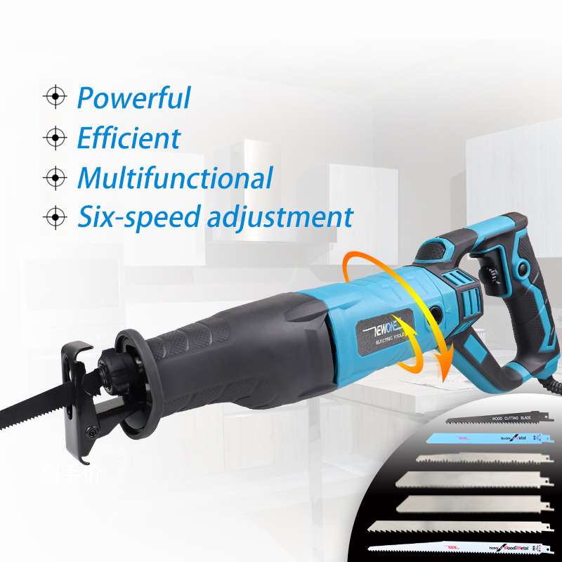 Image 4 - NEWONE Reciprocating saw handsaw saber saw multifunction saw 900W/1050W for metal wood meat bone pipe cutting saw with blade kit-in Electric Saws from Tools on