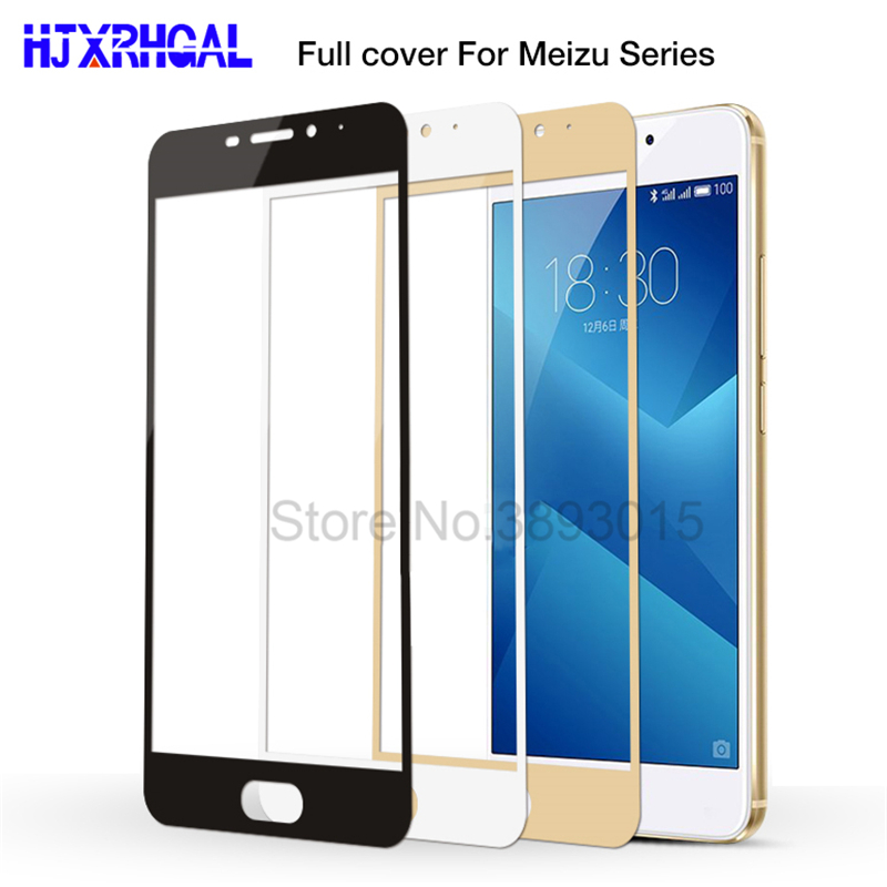 9H Full Cover Tempered Glass For Meizu M3 Note M3S M3 Mini M3E Pro 7 Plus Screen Protector On The Meizu U10 U20 M5 Note M5s M6 M6S M6T Protective Film
