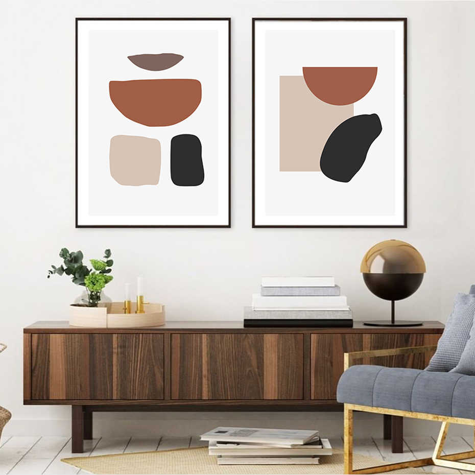 modern brown living room