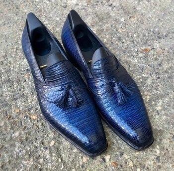 Men PU Leather Fashion Shoes Low Heel Fringe Shoes Dress Shoes Brogue Shoes Spring Ankle Boots Vintage Classic Male Casual LP483