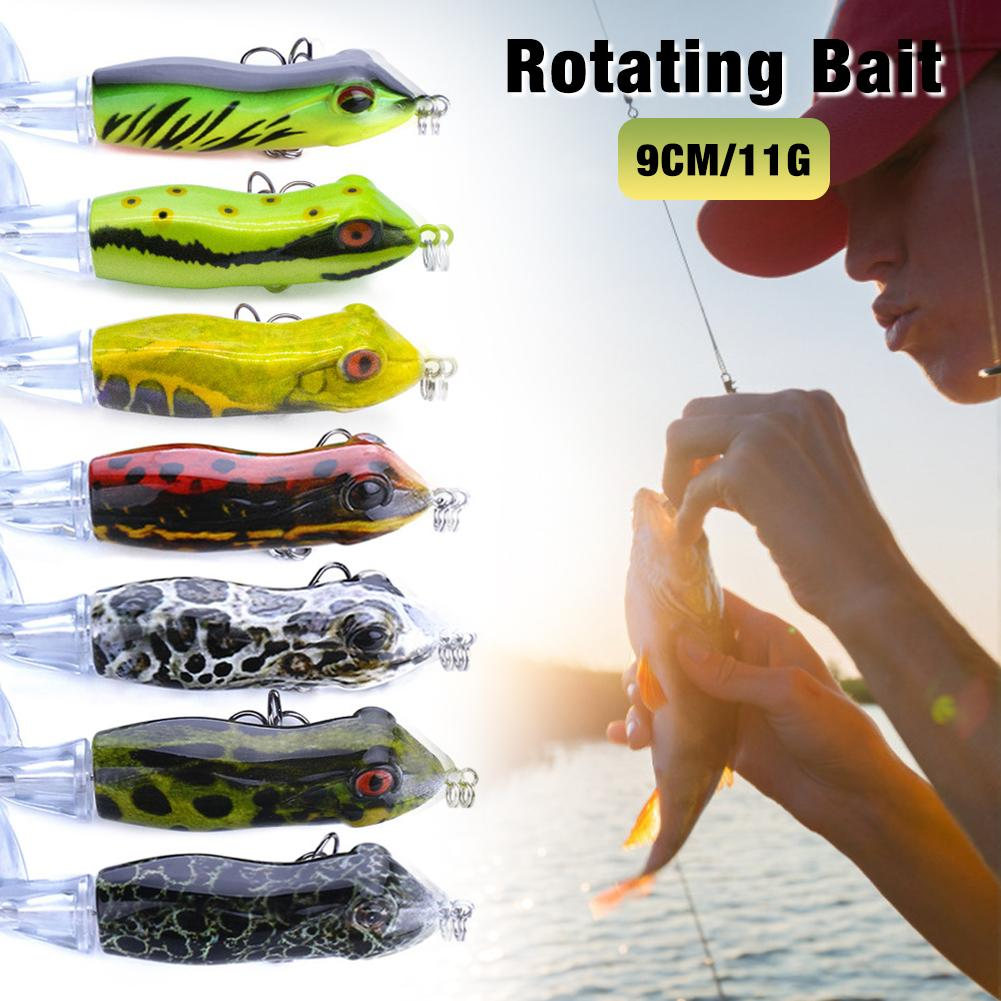 <font><b>Fishing</b></font> <font><b>Lure</b></font> With Floating Rotating Tail Life-like Topwater Bait Freshwater Saltwater <font><b>Lures</b></font> For Carp Perch <font><b>Barracuda</b></font> image