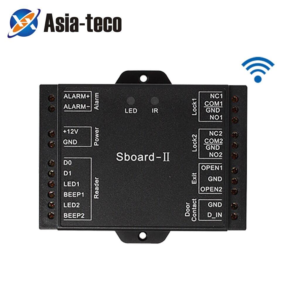 Sboard-II Mini Wifi 2 Door Access Control Board Panel Dual Relay Access Control Board 2100 Users Wiegand 26-37 APP Control