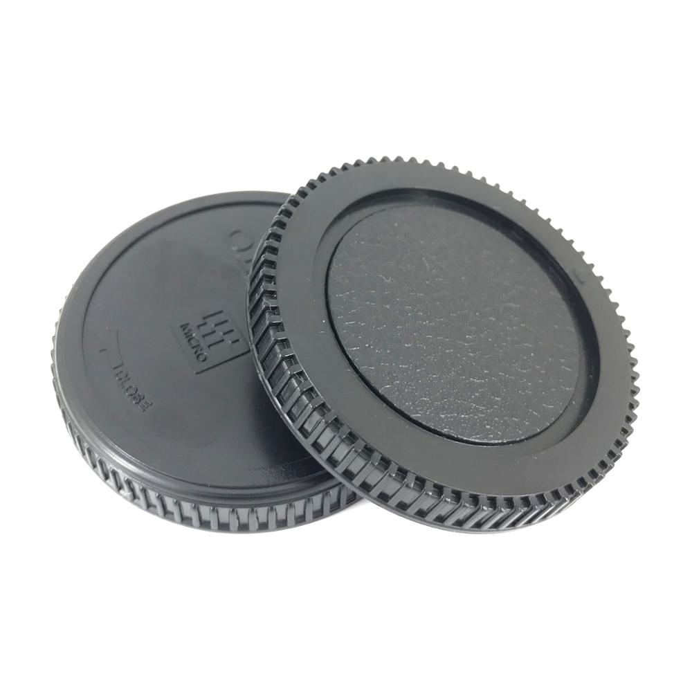 Micro 4/3 Camera Rear Lens Cap + Body Front Cap for Olympus E-PL7 EPL6 E-PL5 E-PL3 OM-D E-M5 OMD EM5 E-M10 Mark ii As BC-2 LR-2 image