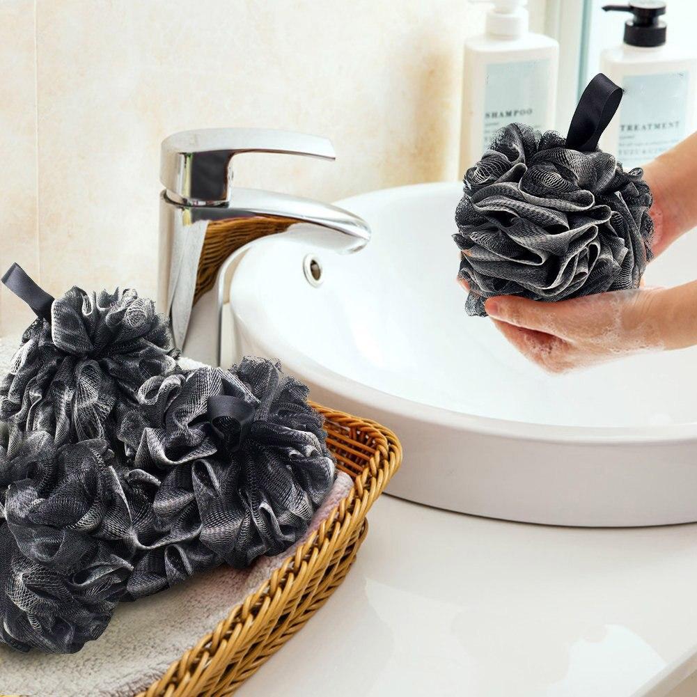 Горячая распродажа мягкий душ сетка пена губка ванна пузырь мяч тело кожа очиститель тело очистка инструменты ванная аксессуары