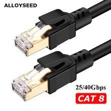 Cat8 Câble Ethernet RJ45 8P8C Câble Réseau 2000Mhz Haute Vitesse Patch 25/40Gbps Lan pour Routeur Portable 3m/5m/10m/15m/20m/25m//30m