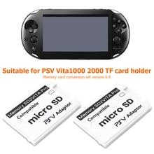 PSVSD محول بطاقة الذاكرة ، الإصدار 6.0 SD2VITA ، عناصر لعب ألعاب خفيفة الوزن لنظام PS Vita 1000 2000 3.65