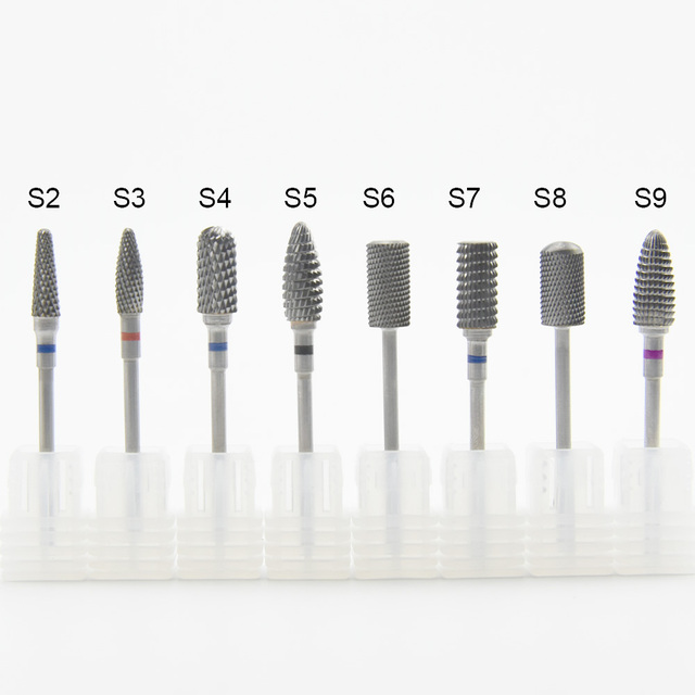 1PC Ceramic Tungsten Carbide Nail Drill Bits Milling Cutter For Manicure Pedicure Nail Art Accessories Nail File 4