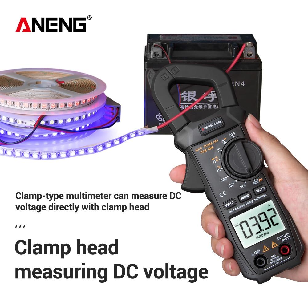 ANENG ST209 мультиметр цифровой токовые клещи 6000 отсчетов True RMS Amp DC/AC клещи токоизмерительные kaws клещи мультиметр токовые тестер постоянного тока мультиметр 400 В dc dc multimeter мультиметор с клещами