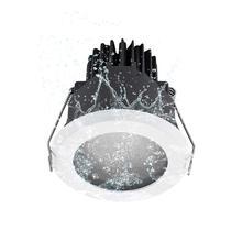 Głębokie przeciwodblaskowe LED 12W wpuszczane ściemniania Downlight IP65 wodoodporna Anti Fog łazienka kuchnia domu wpuszczone Spotlight 75 80mm
