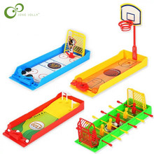 1Pcs Children's Puzzle Interactive Desktop Toys Mini Football Hockey Golf Shooting Game Finger Toys LXX(China)