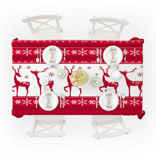 Christmas Tablecloths 3D Printed Bell Tea Machine Cloth Pattern Rectangular Picnic Dustproof Table Cover Bedside
